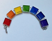 ALL PROCEEDS to charity Rainbow Pride Paint Chip Bracelet
