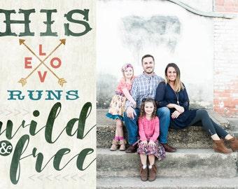 Wild & Free - Custom Christmas Card