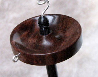 Small top whorl drop spindle in Ring Gidgee and Dymondwood - medium light weight