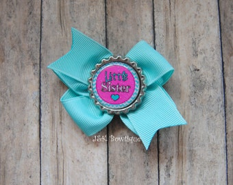 Big sister little sister hair bow,You pick one, hair bows, baby bows, sister hair bow, small hair bow, big sister hair bow, little sister