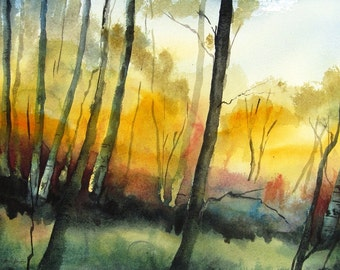 Wilderness Colors - Original Watercolor Painting