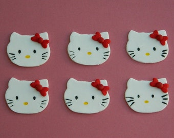 Hello Kitty fondant cupcake toppers