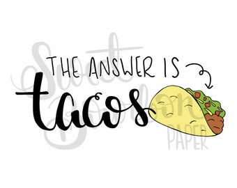 Tacos // Hand-Drawn Planner Stickers