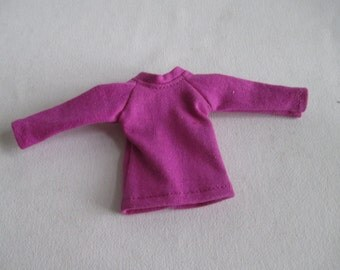 Handmade outfit for Blythe doll long sleeve Sweater Tee shirt Purple SW-14
