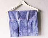 FINAL SALE Hand-Dyed Blue Indigo Kitchen Towel. Gift for Her Under 20. Gift for Him Under 20. Baking Gift. Cooking Gift.