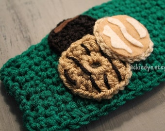 Girl Scouts Inspired Cookie Ear warmers