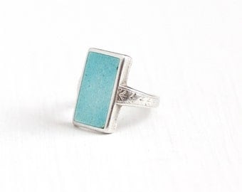 Ostby Barton Sterling Ring With Light Blue Stone