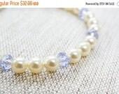 14OFFSALE Bracelet, Pearl Bracelet, Crystal Bracelet, Purple Bracelet, Silver Bracelet, Provence Lavender, Crystal Pearl Bracelet, No. BS004
