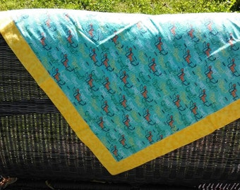 Weiner dog baby blanket