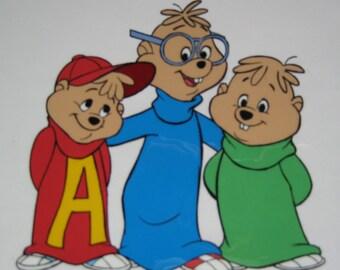 Original Alvin and the Chipmunks Cel + 1985 Flintstone Calendar from Bill Hanna & Joe Barbera