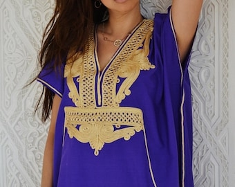 Summer Kaftan Sale Purple with Gold  Marrakech Resort Caftan Kaftan - for beach cover ups, resortwear,loungewear, maxi dresses, birthdays, h