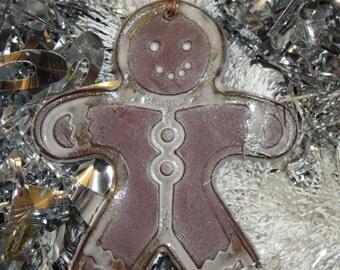 Handmade Ceramic Ornament - Gingerbread Man