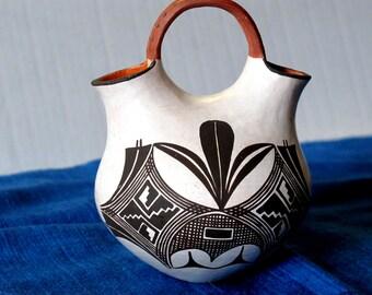 ACOMA Wedding Pot Lilly New Mexico Native American Salvadore