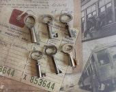 Six Antique Skeleton Keys