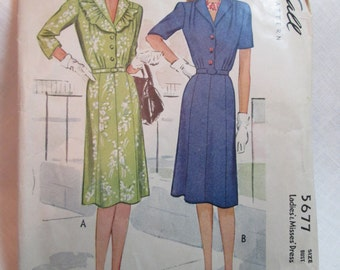 "Antique 1944 McCall Pattern #5677 - size 38"" Bust"