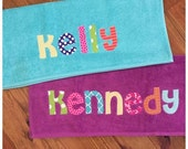 Personalized Applique Towel - Great for the beach, pool or bath - name applique
