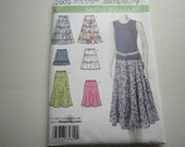 Pattern Ladies Skirts 5 styles Sizes 8 to 16 Simplicity 2609