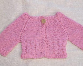Waldorf Doll Clothes - Pink knitted Sweater , fit 15 inch dolls