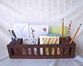 Redesigned Reimagined Home Office Storage Desk Decor Wooden Crate Decorative Mail Office Storage