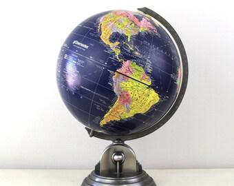 "Vintage Globemaster 12"" Dark Blue Ocean Globe By Replogle // Made in USA, Item No. 1574"