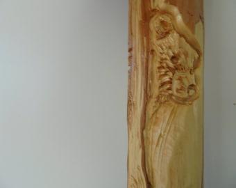 Hand Carved Bear Walking Stick