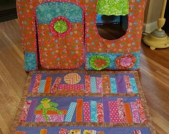 PATTERN for Storybook Nook card table playhouse (with mini-quilt pattern!)