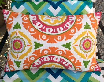 Pillow Cover in Colorful Mandala Fabric