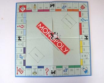 Vintage Folding Monopoly Game Board