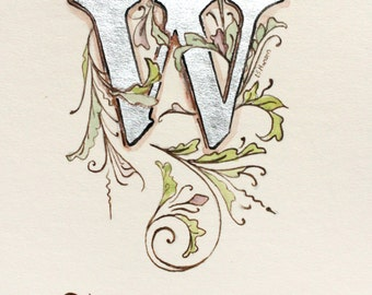 "Monogram Art - 5"" by 7"" Illuminated Letter"