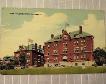 Antique Cincinnati Ohio Postcard, Home for the Jewish Infirm Hospital, Historic OH Building, Unco Trademark