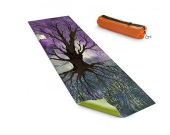 Yoga Mat Tree of Life Watercolor Painting - Exercise Mat