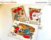Antique VICTORIAN Valentines Postcards - cottage chic - Vintage Post Cards