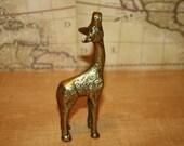 Brass Giraffe - item #2082