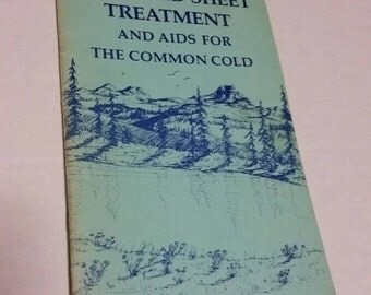 The Cold Sheet Treatment and aids for the common cold booklet 1976