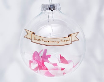 Personalised Mother's Day Confetti Bauble