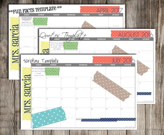 Blank Calendar Desk Pad : Diy printable custom desk calendar pad
