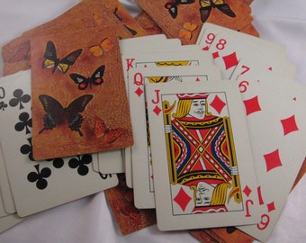 Vintage Butterfly Playing Cards Poker Cards Deck Of Cards Standard Size 52 Cards and 2 jokers