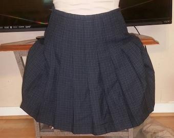 Vintage 1990 plaid pleated skirt size small