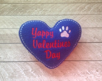 Heart Shaped Dog Toy with Squeaker