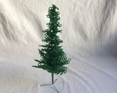 Vintage beaded tree decor  christmas decor
