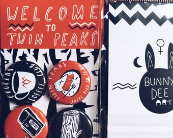 Welcome to Twin Peaks bunny dee button pack