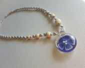 Hemp Necklace, Purple Flower, Hemp Jewelry, Handmade, Hippie, Bohemian, Organic, Hemp Anklet, Hemp Bracelet, Indie Hemp Works, Macrame