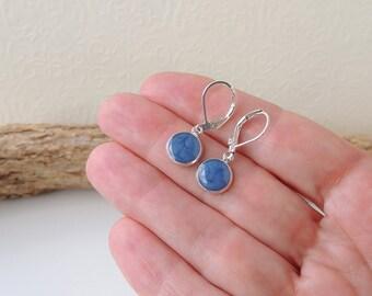 Little Blue Drop Earrings, Blue Resin Lever Back Charm Earrings, Resin Jewelry Jewellery,Blue Jewellery, UK, 1507