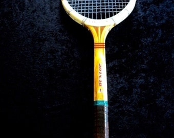Vintage Dunlop Maxply FORT Tennis Racquet  Leather Grip Gut Made In England