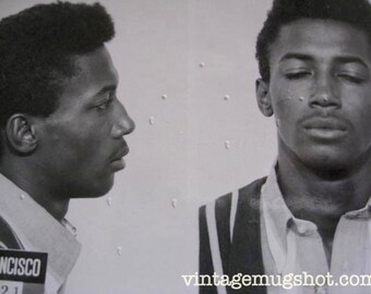 1966 Very Bad Dude San Francisco  Police Department Criminal MUG SHOT Inciting Riots Rape Assault with A Deadly Weapon