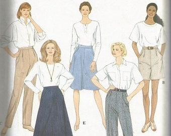 Vintage Simplicity Skirt, Pants, and Short Pattern SZ 12-18