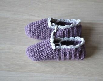 Home crochet slippers, women wool socks, crochet yoga shoes