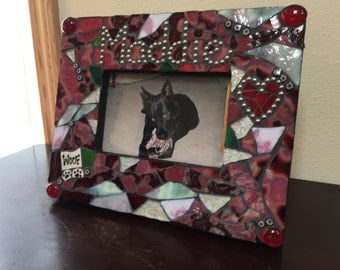 Pet's Name Picture Frame - Made to Order