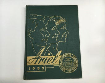 1953 UVM Ariel Yearbook - University of Vermont, Burlington, VT [Vintage College Year Book]