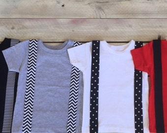 Black Iron On Suspenders Applique Stripes, Polka Dots,Chevron, Infant, Kid, Adult